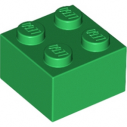 LEGO 300328  BRIQUE 2X2 - DARK GREEN