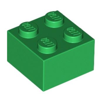 LEGO 300328 BRIQUE 2X2 - DRAK GREEN