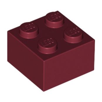 LEGO 4249850 BRIQUE 2X2 - NEW DARK RED