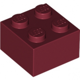 LEGO 4249850 BRIQUE 2X2 - NEW DARK RED