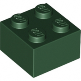 LEGO 4266895 BRIQUE 2X2 - EARTH GREEN