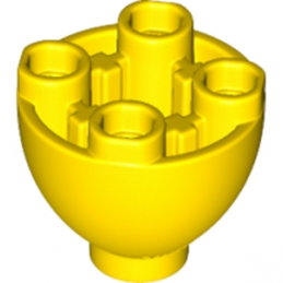 LEGO 6145704 - SPHERE 2X2X1 1/3 INVERTED - JAUNE