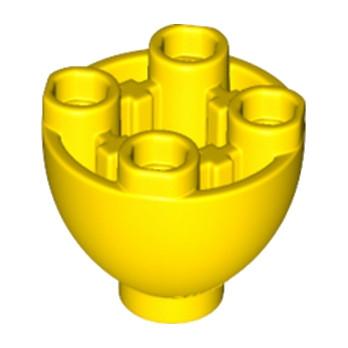 LEGO 6145704 - SPHERE 2X2X1 1/3 INVERTED - JAUNE