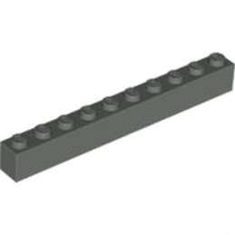 LEGO 4211107 BRIQUE 1X10 - DARK STONE GREY
