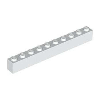 LEGO 611101 BRIQUE 1X10 - BLANC