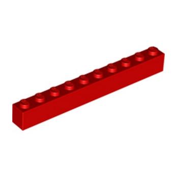 LEGO 611121 BRICK 1X10 - RED