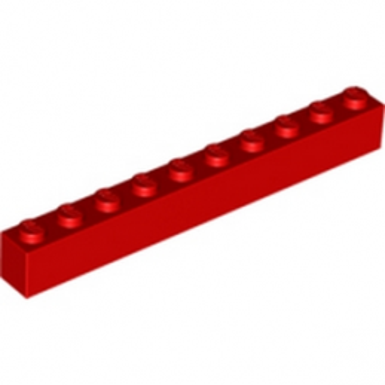 LEGO 611121 BRIQUE 1X10 - ROUGE