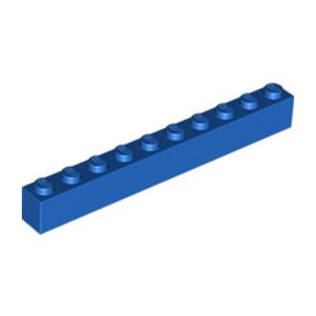 LEGO 611123 BRIQUE 1X10 - BLEU