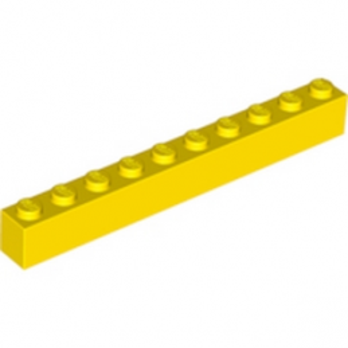 LEGO 611124 BRIQUE 1X10 - JAUNE