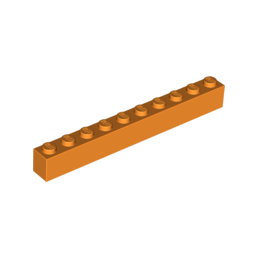 LEGO 4294622 BRQUE 1X10 - ORANGE