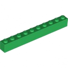 LEGO 611128 BRIQUE 1X10 - DARK GREEN