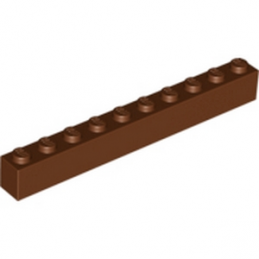 LEGO 4264633 BRIQUE 1X10 - REDDISH BROWN