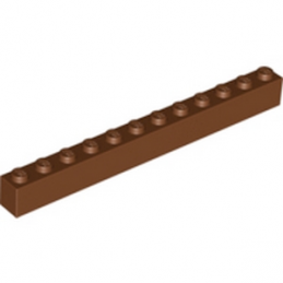 LEGO 4222627 BRIQUE 1X12 - REDDISH BROWN