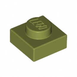 LEGO 6058245 PLATE 1X1 - OLIVE GREEN