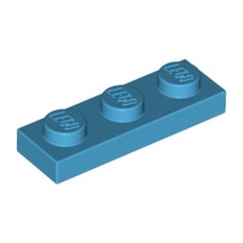 LEGO 6153538 PLATE 1X3 - Dark Azur lego-6153538-plate-1x3-dark-azur ici :