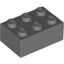 LEGO 4211105 BRIQUE 2X3 - Dark Stone Grey