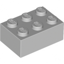 LEGO 4211386 BRIQUE 2X3 - Medium Stone Grey