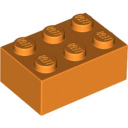 LEGO 4125971 BRIQUE 2X3 - ORANGE