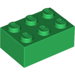 LEGO 300228 BRIQUE 2X3 - Dark Green