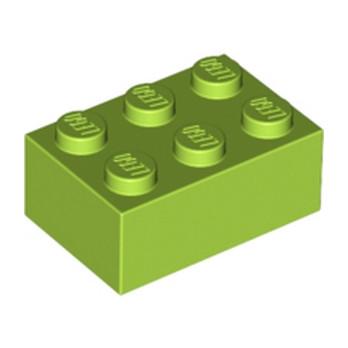 LEGO 4220631 BRICK 2X3 - BRIGHT YELLOWISH GREEN