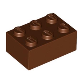 LEGO 4216668 BRICK 2X3 - REDDISH BROWN