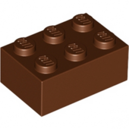 LEGO 4216668 BRIQUE 2X3 - Reddish Brown