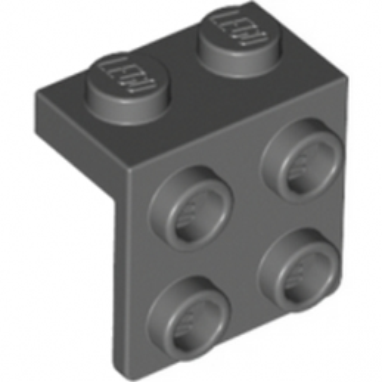 LEGO 4210893 ANGLE PLATE 1X2  2X2 - Dark Stone Grey