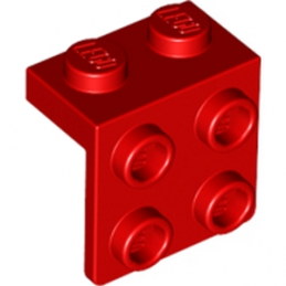 LEGO 4185525 ANGLE PLATE 1X2  2X2 - ROUGE