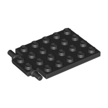 LEGO 4595711 -  Trappe 4X5 - Ø3.2 - Noir