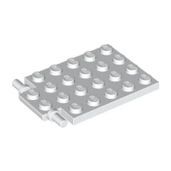 LEGO 4599044 -  Trappe 4X5 - Ø3.2 - Blanc