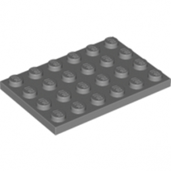 LEGO 4211115  PLATE 4X6 - DARK STONE GREY