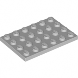 LEGO 4211404 	PLATE 4X6 - Medium Stone Grey