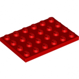 LEGO 303221 PLATE 4X6 - ROUGE