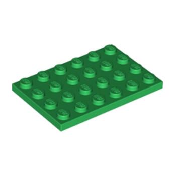 LEGO 4116671 PLATE 4X6 - Dark Green