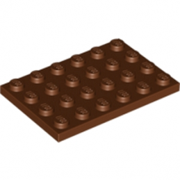 LEGO 4211213 PLATE 4X6 - Reddish Brown lego-4271874-plate-4x6-reddish-brown ici :