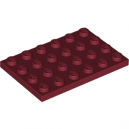 LEGO 4167304  PLATE 4X6 - New Dark Red