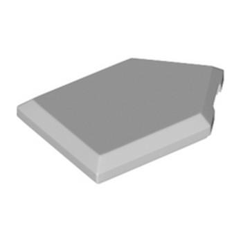 LEGO 6138695 FLAT TILE2X3 W/ANGLE  - Médium Stone Grey