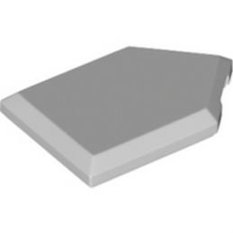 LEGO 6245254 FLAT TILE2X3 W/ANGLE  - MEDIUM STONE GREY