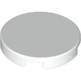 LEGO 6044691 Plate Lisse 2X2, Rond - Blanc
