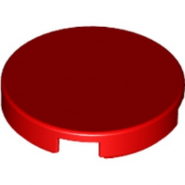 LEGO 6066342 Plate Lisse 2X2, Rond - Rouge