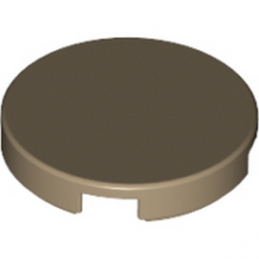 LEGO 4625275  Plate Lisse 2X2, Rond - Sand Yellow