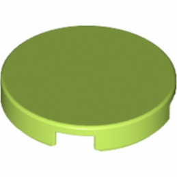 LEGO 4541957  Plate Lisse 2X2, Rond - Bright Yellowish Green