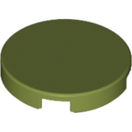 LEGO 6024665 PLAT LISSE 2X2 ROND - OLIVE GREEN
