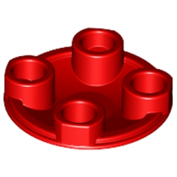 LEGO 265421 ROND LISSE 2X2 INV - ROUGE