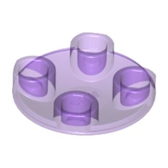 LEGO 6177942 - ROND LISSE 2X2 INV  - Violet Transparent