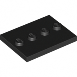 LEGO 4571146 PLATE 3X4 WITH 4 KNOBS - Noir
