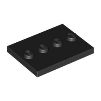 LEGO 4571146 PLATE 3X4 WITH 4 KNOBS - Noir lego-6076678-plate-3x4-with-4-knobs-noir ici :