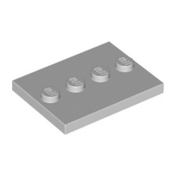 LEGO  PLATE 3X4 WITH 4 KNOBS - Médium Stone Grey lego-6079461-plate-3x4-with-4-knobs-medium-stone-grey ici :