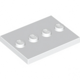 LEGO 6132741 PLATE 3X4 WITH 4 KNOBS - Blanc lego-6132741-plate-3x4-with-4-knobs-blanc ici :