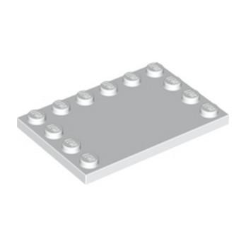 LEGO 618001 PLATE 4X6 W. 12 KNOBS - BLANC